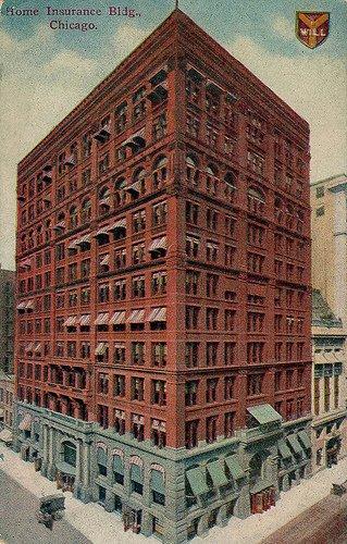 Первый небоскрёб в Чикаго