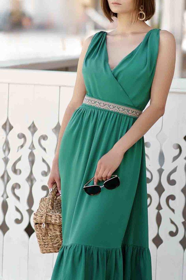 зеленое платье на новы год