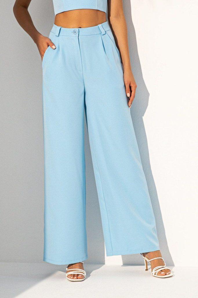 Широкие модные брюки кюлоты или палаццо